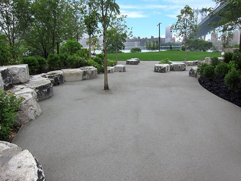 Pathway with Granite Stabilizer - Brooklyn Bridge Park