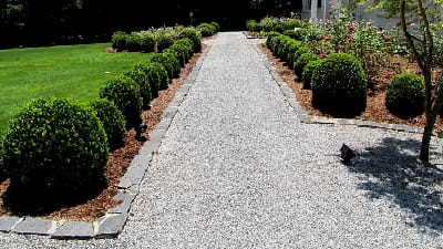 Formal Garden with Granite Gravel Path