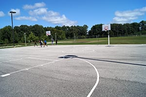 Permeable Asphalt Basketball Court Basketball Court