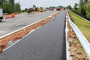 Porous Asphalt Bike Path (Construction)